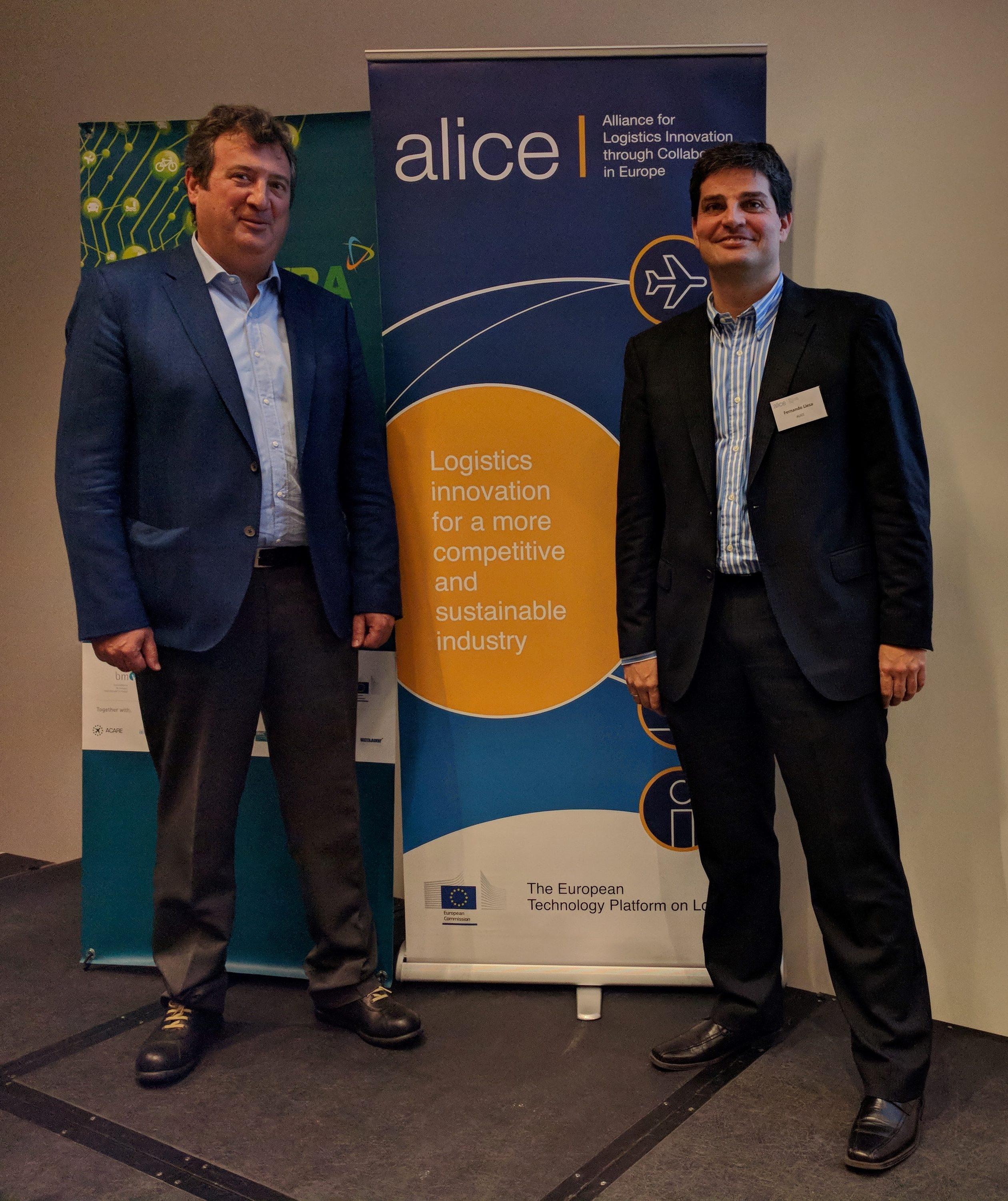 Fernando Liesa, ALICE General Secretary, alongside Francesc Rosines, ENIDE, at ALICE Plenary Meeting