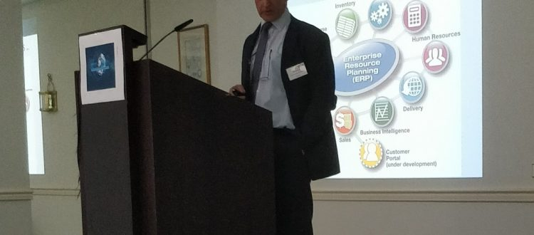 Nik Delmeire at the European shippers final CORE event thanks to European shippers.